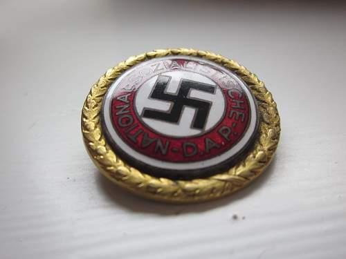 NSDAP Goldenes Parteiabzeichen.