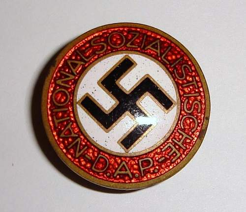 Two NSDAP - Mitgliedsabzeichen (membership pins) - Are they authentic?