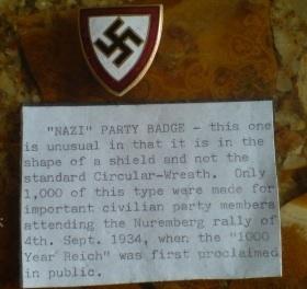 Shield Shaped NSDAP Badge!