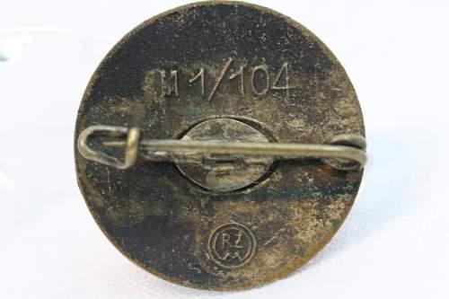 NSDAP Pin M1/104 Otto Fechler
