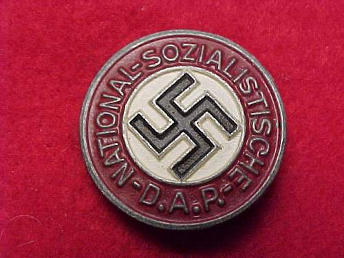 Click image for larger version.  Name:NSDAP PARTY PIN 1.JPG Views:129 Size:66.5 KB ID:327011