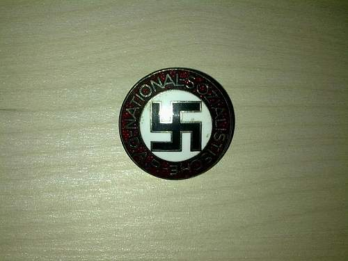 NSDAP (PARTEIABZEICHEN - BADGE PARTY)  RZM M 1/128   -  Real or Reproduction?