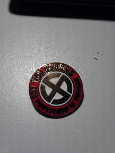 Volksbund der Deutschen in Ungarn badge:  Real or fake and value if real please.