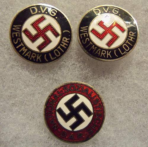 dvg &nsdap pins, are they real?