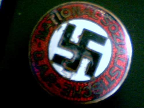 NSDAP party membership badge/pin