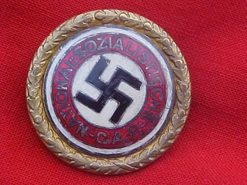 Goldene Parteiabzeichen der NSDAP