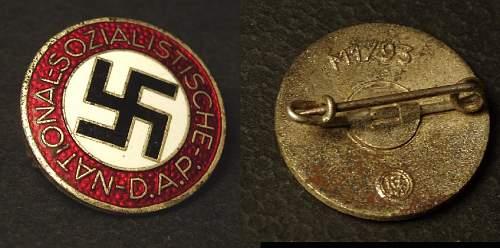 Nationalsozialistische Deutsche Arbeiterpartei badges