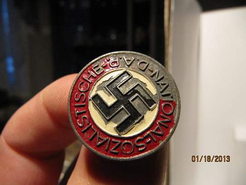 Late war Party badge: real or fake?
