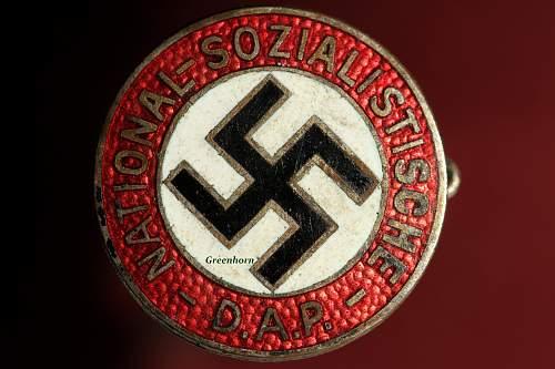NSDAP Parteiabzeichen real or fake