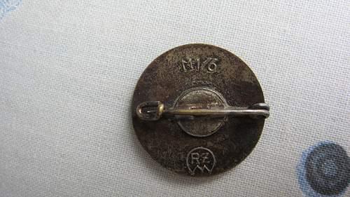 NSDAP party pin