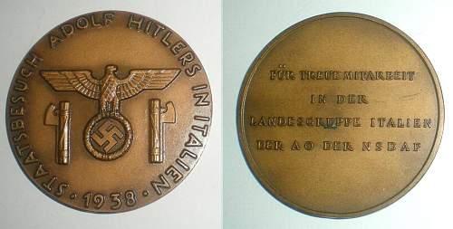 Click image for larger version.  Name:medaglia Visita di Hitler in Italia 1938.jpg Views:58 Size:141.7 KB ID:560226