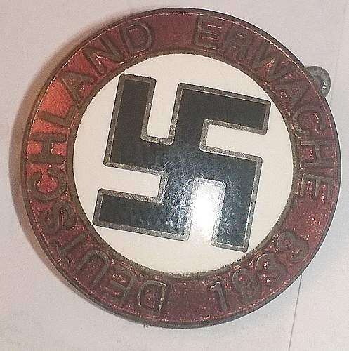 1933 party badge opinions