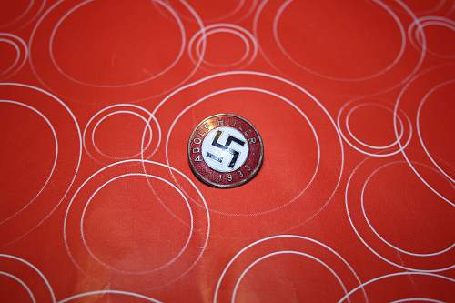 Westwall medal and Adolf Hitler 1933 pin