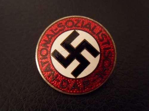 NSDAP Parteiabzeichen RZM M1/90 - Need Opinions