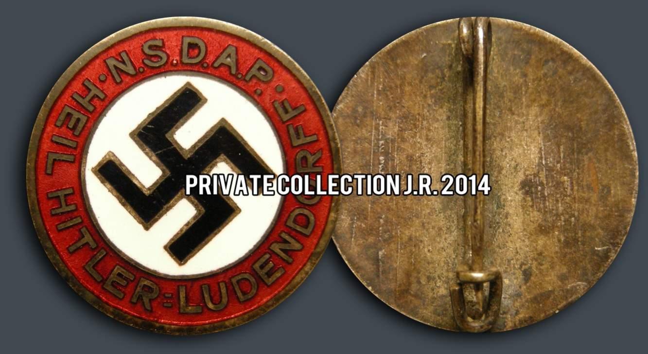 NSDAP - Heil Hitler=Ludendorff. A new NSDAP slogan badge in 2014!