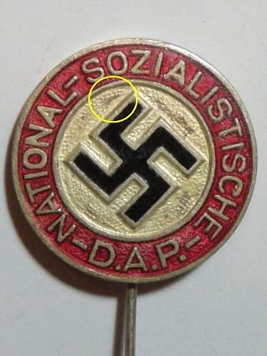 NSDAP stickpin lapel FAKE