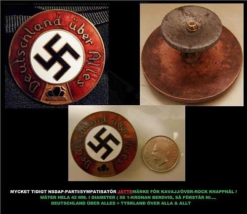 "Nazi pin from the 30s (""swedish ebay"")1 hour heeeelp"