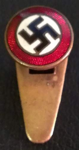 buttonhole Sympathizer badge purchased tonight