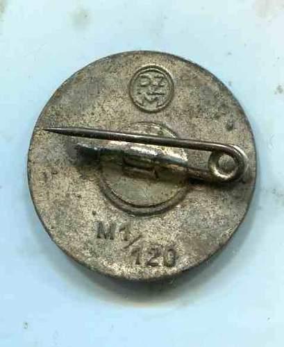Real or Fake NSDAP Nazi Party Pin Badge.