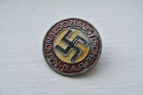 Painted NSDAP pin, defected?