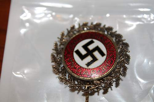 NSDAP pin with detailed  wreath, please help to ID