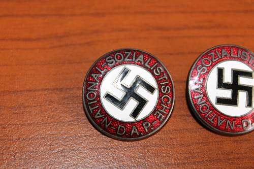2 identical party pins Please help ID if real