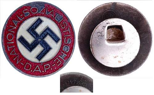 Party Badge M1/72 Fritz Zimmermann buttonhole variant arrived today