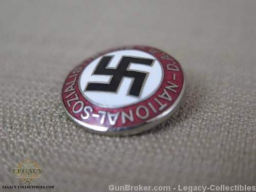 Fake NSDAP party pins