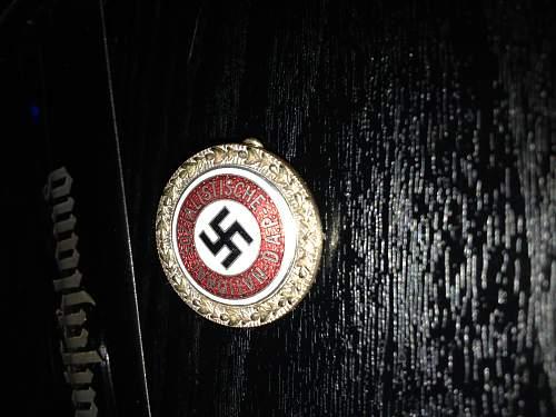 Party badge. Genuine ????