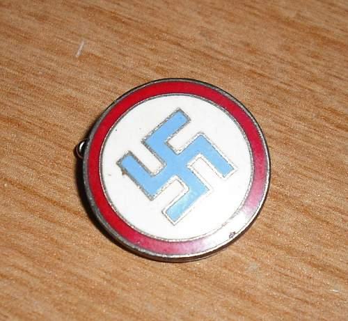 Nazi party pin??  Unique...opinions please!