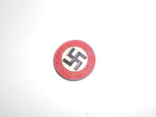 nsdap membership badge Opinion needed