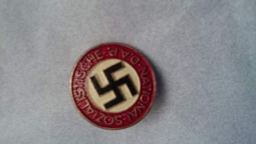 Late war painted party badge for review