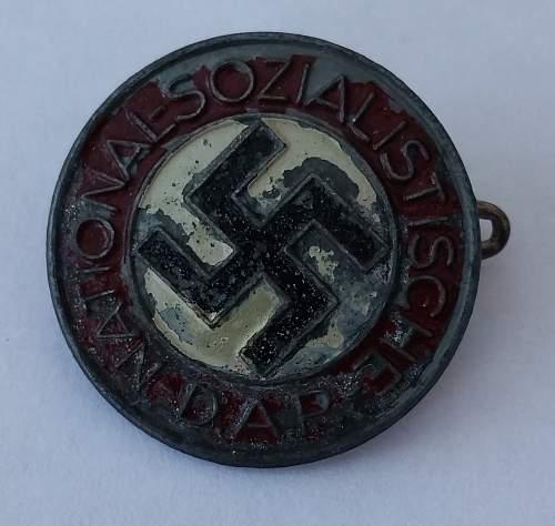 Late war zinc badge M1/27