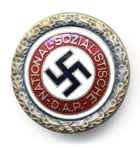Whats this nazi party badge?