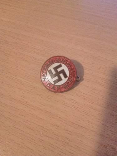 NSDAP member pin