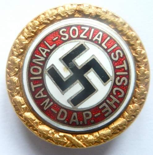 Golden Party Badge