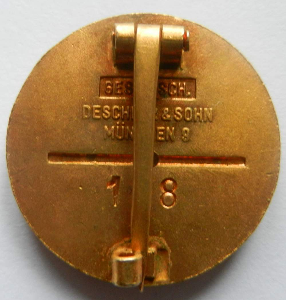 Golden Party Badge