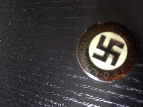 I hope this is my first NSDAP badge - no markings?