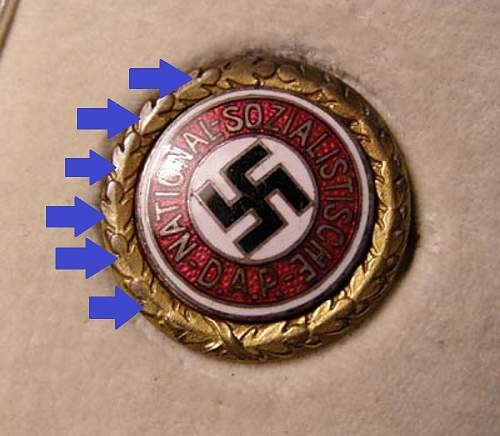 NSDAP party badge Origionallity
