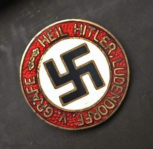 Another badge up for auction - HH -  Karl Gutenkunst, Oranienburg M1/4