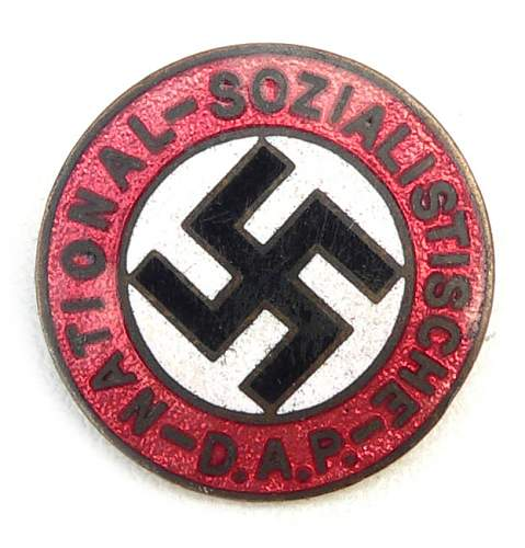Early NSDAP party badge