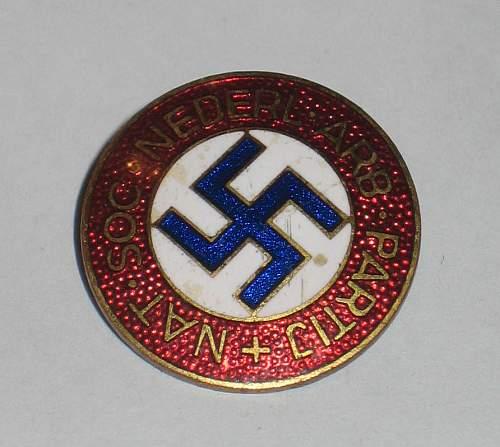 NSNAP Dutch Nederlands scarce abzeichen