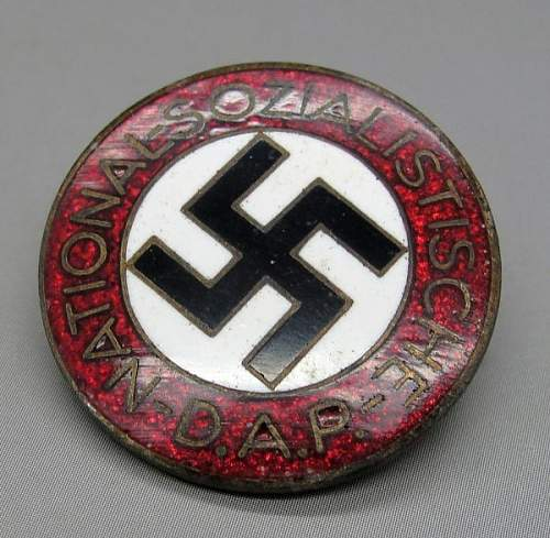 NSDAP Party Badge M1/42 Opinion