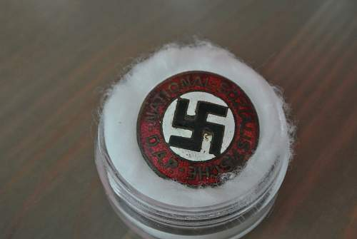 Nsdap party badge with unique markings