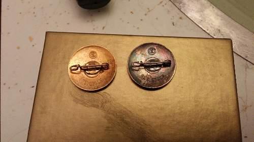 Some NSDAP Pins Identification
