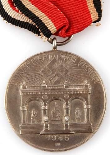 German blood order medal