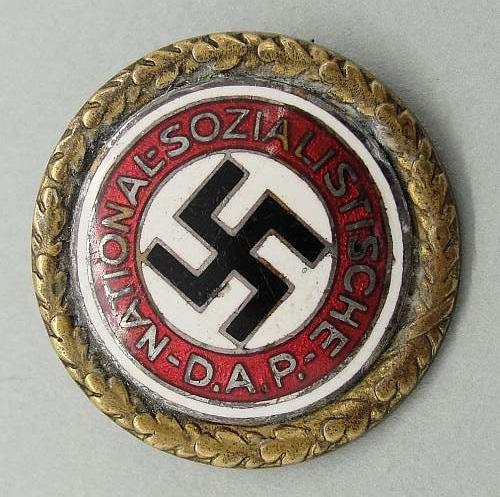 NSDAP Honor Membership Badge