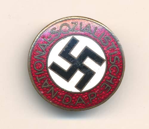 NSDAP parteiabzeichen RZM M1/25