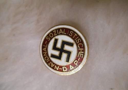 NSDAP golden badge