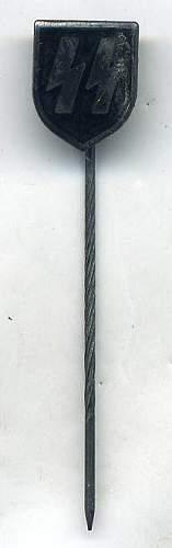 NSDAP Pin and SS Membership Stick Pin